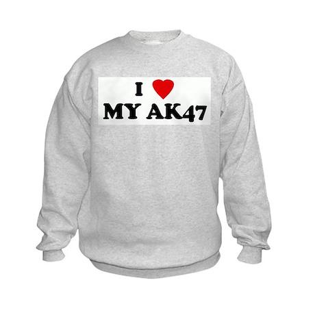 I Love MY AK47 Kids Sweatshirt