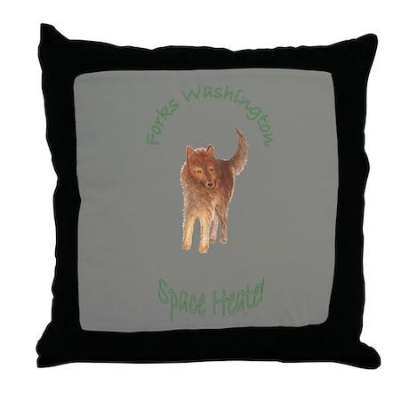 Werewolf Space Heater Throw Pillow