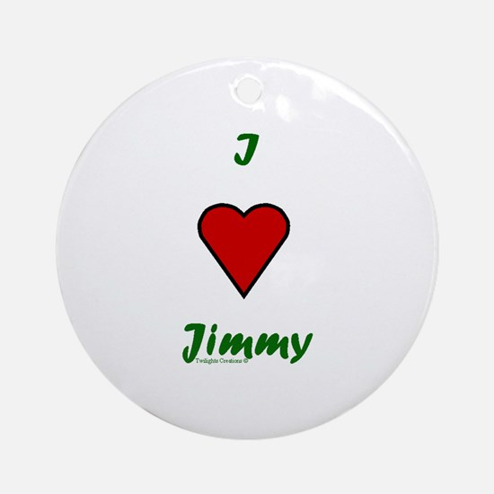 Heart Jimmy Ornament (Round)