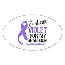 I Wear Violet For Grandson Oval Decal