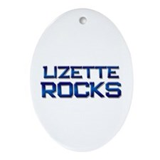 lizette rocks Oval Ornament