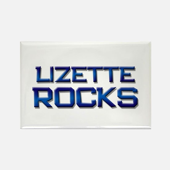 lizette rocks Rectangle Magnet