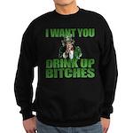 Uncle Sam Drink Up Bitches Sweatshirt (dark)