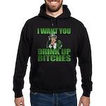 Uncle Sam Drink Up Bitches Hoodie (dark)