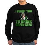 Uncle Sam Green Beer Sweatshirt (dark)
