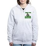 Uncle Sam Green Beer Women's Zip Hoodie