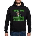 Uncle Sam Green Beer Hoodie (dark)