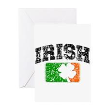 Distressed Irish Flag Logo Greeting Card