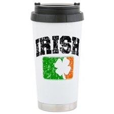 Distressed Irish Flag Logo Travel Mug