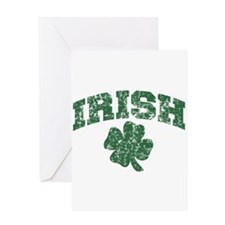 Worn Irish Shamrock Greeting Card