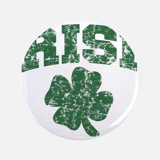 "Worn Irish Shamrock 3.5"" Button"