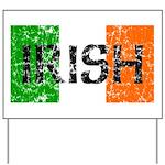 Irish Flag distressed Yard Sign