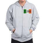 Irish Flag distressed Zip Hoodie