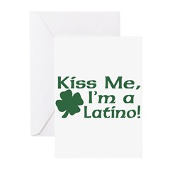 Kiss Me I'm a Latino Greeting Cards (Pk of 20)