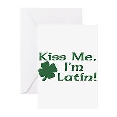 Kiss Me I'm Latin Greeting Cards (Pk of 20)