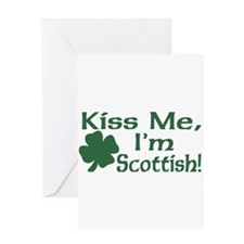 Kiss Me I'm Scottish Greeting Card