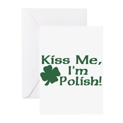 Kiss Me I'm Polish Greeting Cards (Pk of 20)