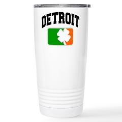 Detroit Shamrock Stainless Steel Travel Mug
