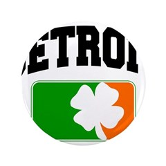 "Detroit Shamrock 3.5"" Button"