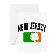 New Jersey Shamrock Greeting Card
