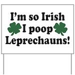 Irish Poop Leprechauns Yard Sign