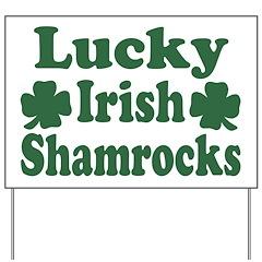 Lucky Irish Shamrocks Yard Sign