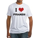 I Love Pyramids Fitted T-Shirt