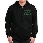 Naughty Irish Boy Zip Hoodie (dark)