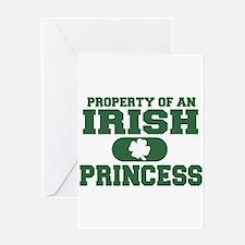 Cute Irish princess Greeting Card