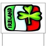 Ireland Flag Shamrock Yard Sign