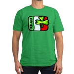 Ireland Flag Shamrock Men's Fitted T-Shirt (dark)