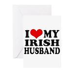 I Love My Irish Husband Greeting Cards (Pk of 20)