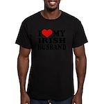 I Love My Irish Husband Men's Fitted T-Shirt (dark