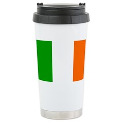 Irish Flag Stainless Steel Travel Mug