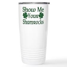 Show Me Your Shamrocks Travel Coffee Mug