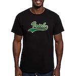 Irish Swoosh Green Men's Fitted T-Shirt (dark)