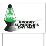 Groovy St. Patrick's Day Yard Sign