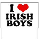 I Love Irish Boys Red Heart Yard Sign