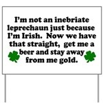 Inebriate Leprechaun Irish Yard Sign