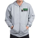 Irish Foreplay Green Zip Hoodie
