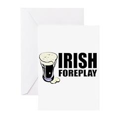 Irish Foreplay Beer Greeting Cards (Pk of 20)