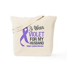 I Wear Violet For Husband Tote Bag