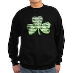 Shamrock Irish Girl Shamrock Sweatshirt (dark)