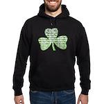 Shamrock Irish Girl Shamrock Hoodie (dark)