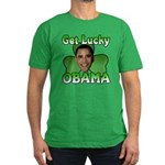 Get Lucky Obama Men's Fitted T-Shirt (dark)