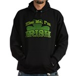 Kiss Me I'm Irish Shamrock Hoodie (dark)