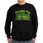 Kiss Me I'm Drunk Shamrock Sweatshirt (dark)
