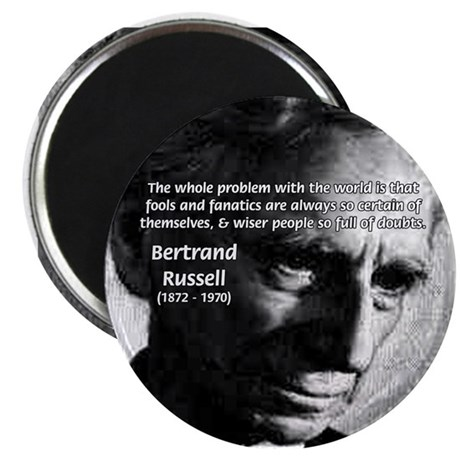 "Philosopher Bertrand Russell 2.25"" Magnet (100 pac"