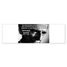Philosopher Bertrand Russell Bumper Bumper Sticker