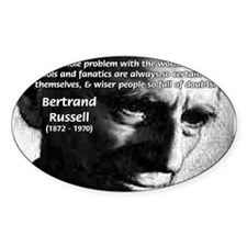 Philosopher Bertrand Russell Oval Decal